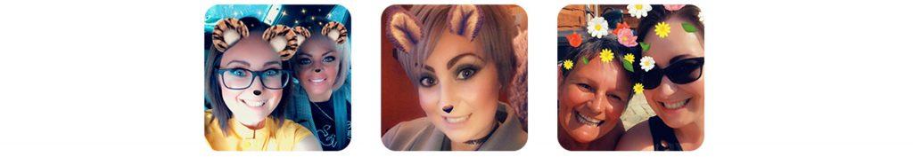 Lara's selfies