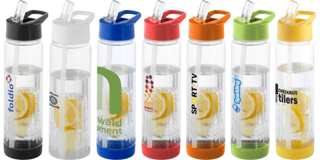 Drinks containers in various colours