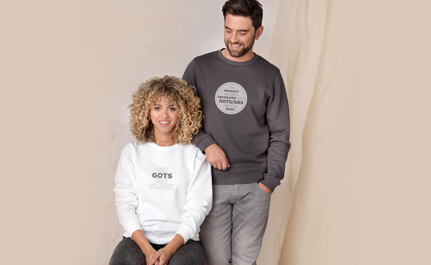 Jasper GOTS organic GRS recycled crewneck sweater corporate gift